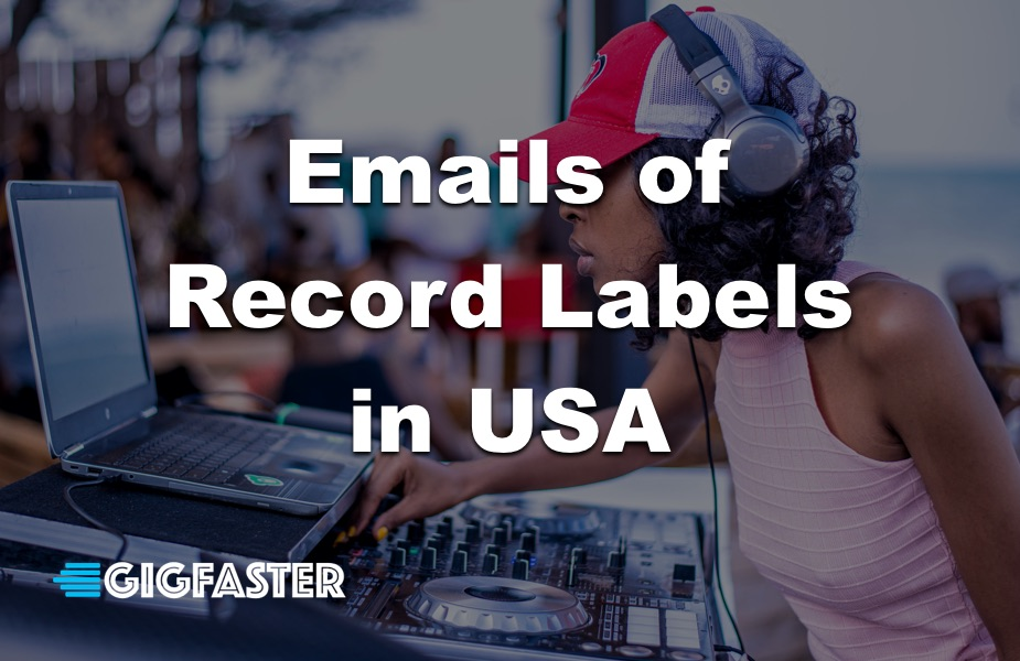 Emails of Record Labels in USA