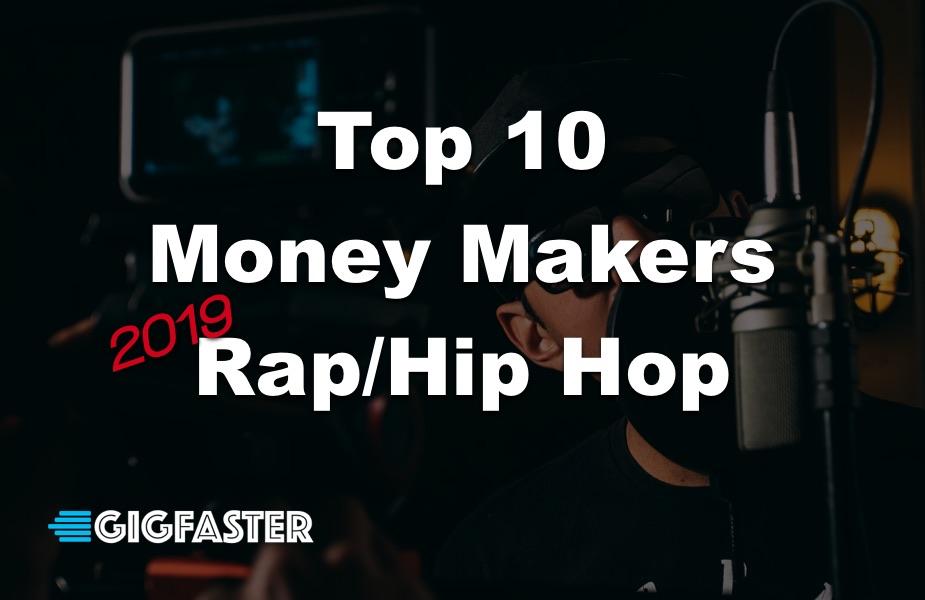 Top 10 Money Makers in Rap Hip Hop 2019